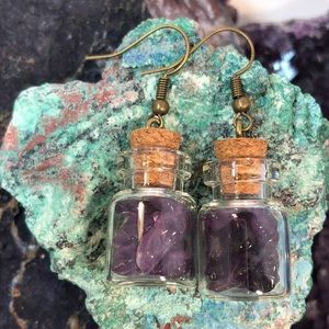 ALPHAVARIABLE Amethyst Bottle Earrings